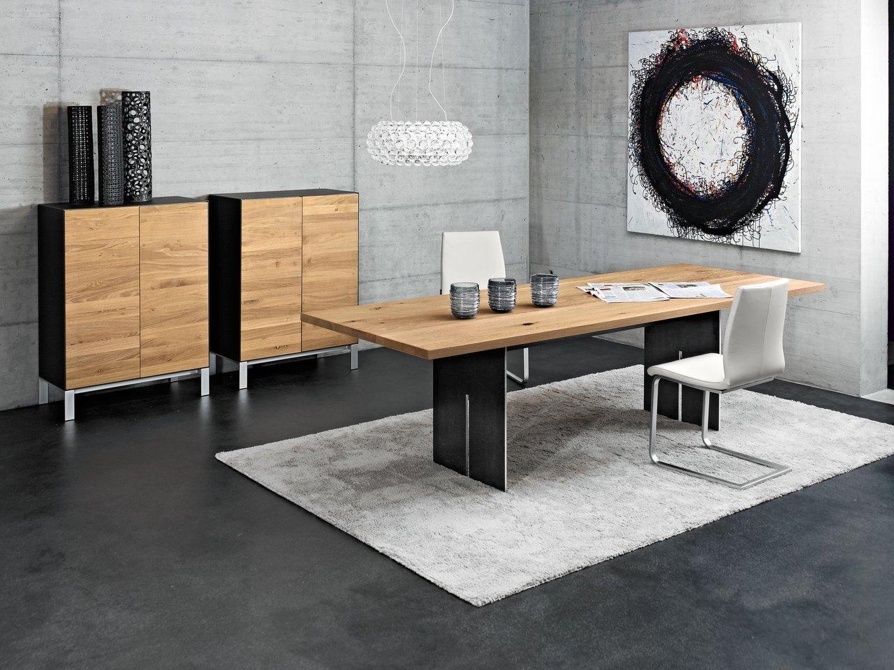 seetal swiss esstisch cavo mit fuss slot in rohstahl kieser wohnen baltensweiler. Black Bedroom Furniture Sets. Home Design Ideas